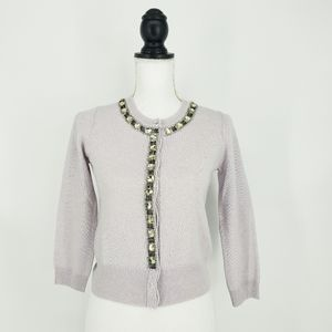 Autumn Cashmere Crystal Embellishment Cardigan